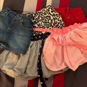 Lot of toddler skirts